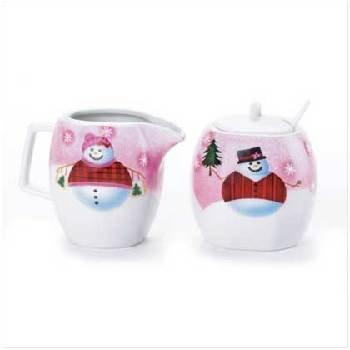 Wholesale Snowman Sugar & Creamer Set