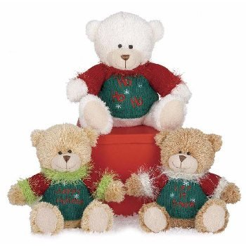 "Wholesale 8"" 3 Assorted Color Sweater Bears"