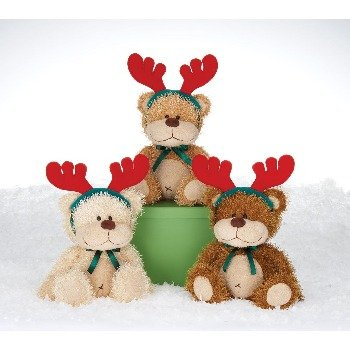 "Wholesale 6.5"" 3 Assorted Himink Bears With Antlers"