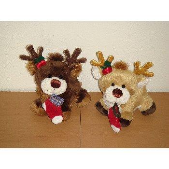 """Wholesale 7"""" 2 Asst. Color Standing Reindeer"""