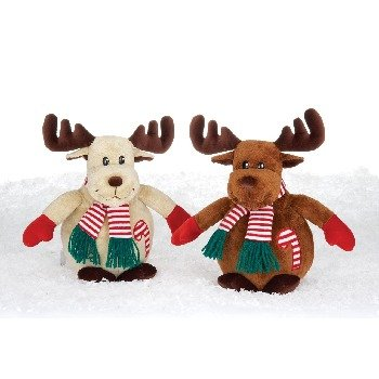 """Wholesale 9"""" Moose With Striped Scarf"""