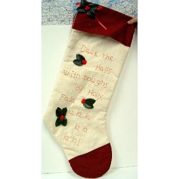Wholesale Elegant Holly Christmas Stocking
