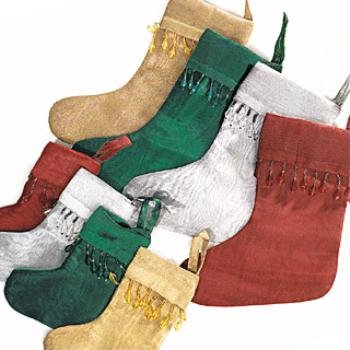 """Wholesale 10"""" Large Stockings Beaded 4 Colors"""