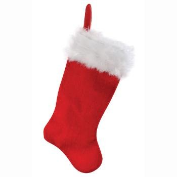 """Wholesale 19"""" Christmas Stocking with Mohair Trim..HOT SELLER"""