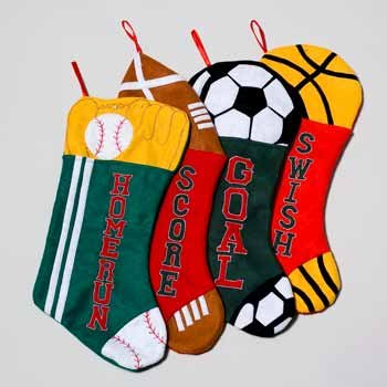 Wholesale Christmas Sports Stockings..HOT SELLER