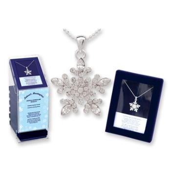 Wholesale Crystal Snowflake Necklace (Gift Boxed)