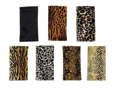 Wholesale Eyewear Cloth Pouch with Spring Closure