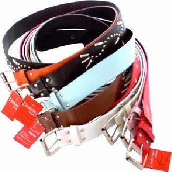 Wholesale Ladies' Belts, 3cm x 110 cm, Assorted