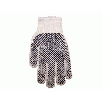 Wholesale Men's Bulk String Knit PVC Dotted Large Gloves