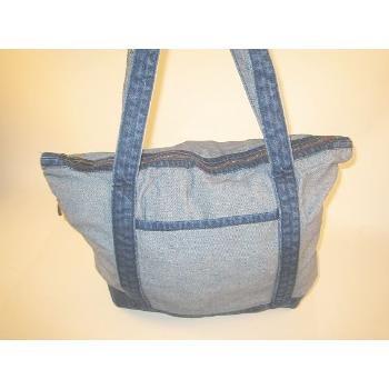 Wholesale Denim Tote Bag with Shoulder Straps Item #6505