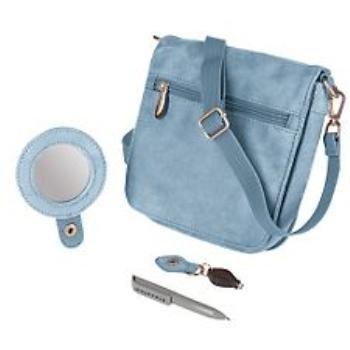 Wholesale Travelon Convertible Travel Wallet - Blue Microsu