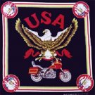 Wholesale USA Motorcycle Bandanas - Dozen Packed 22x22