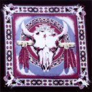 Wholesale Steer Head - Turquoise and Burgundy Bandanas - Doz