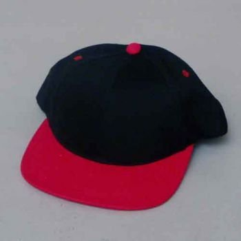Wholesale BLACK/RED 6 PANEL CAP