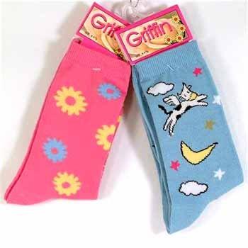 Wholesale Ladies Sizes 9-11 Sock Stripes & Prints