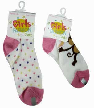 Wholesale Girls Fashion Socks in Display