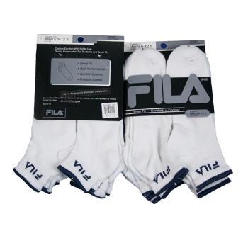 Wholesale Men's Fila White with Navy Quarter Sock