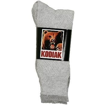 Wholesale Women's Kodiak grey crew socks