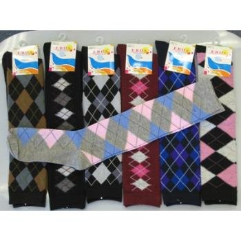 Wholesale Knee High Computer Argyle Socks