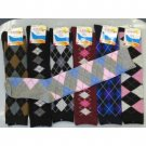 Wholesale Knee High Computer Argyle Socks