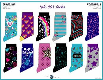 Wholesale Kid's 80's Socks