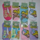 NEW! Wholesale Disney Tinkerbell Ankle Socks