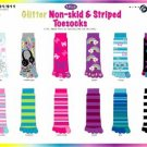 Wholesale Glitter Non-Skid 1 Pk Toe Socks