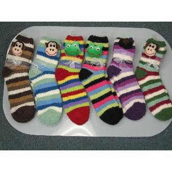 Wholesale Closeouts - Ladies Fuzzy Socks with 3-D Animals