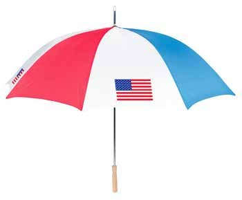 "Wholesale RainWorthy 48"" Automatic American Flag Umbrella"