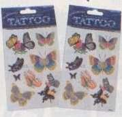 Wholesale Assorted Butterfly Tattoos