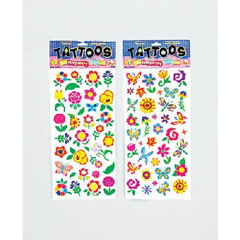 Wholesale Spring Floral Fun Tattoos