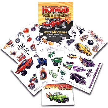 Wholesale Hot Rod Temporary Tattoo