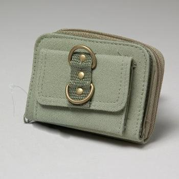 NEW! Wholesale Green Canvas Coin Purse