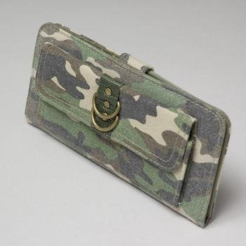 NEW! Wholesale Camo Canvas Checkbook Wallet