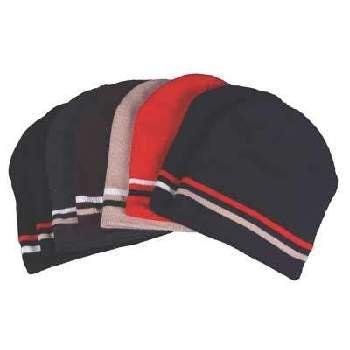 Wholesale Double Stripe Beanie Hat - Mixed Color Dozen HOT SELLER