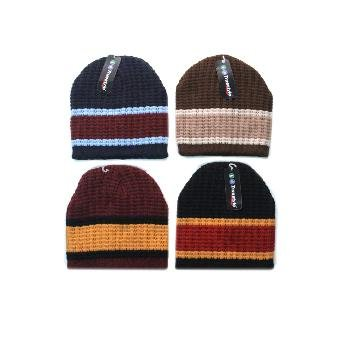 Wholesale Assorted Ribbed Thick Stripe Beanies  HOT SELLER