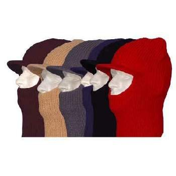Wholesale Mixed Colors Open Face Ski Mask with Brim - Dozen
