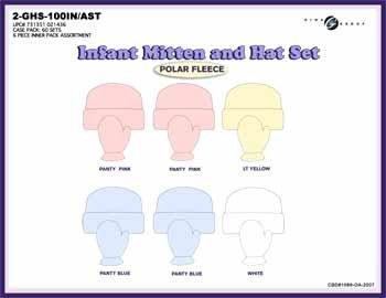 Wholesale Infant Mitten & Hat Set