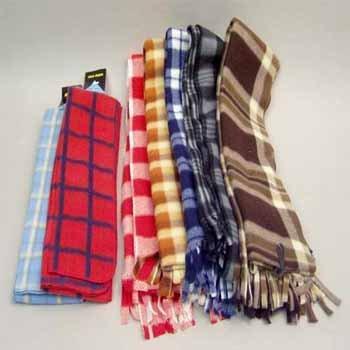 Wholesale 10 Assorted Fleece Scarves