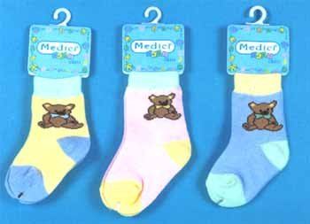 Wholesale Baby Socks In Bear Design