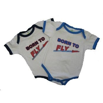 "Wholesale Infant Layette ""Born to Fly"" Assorted Colors"