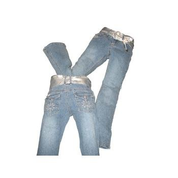 Wholesale 5 Pocket Jeans w/Lightly Glittered
