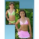 Wholesale Girl's 3 Piece Swim Suit Set