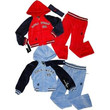 Wholesale Rocawear Girls Velour Track Suits