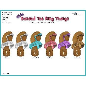 Wholesale Girls Braided Toe Ring Thong