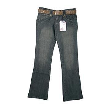 Wholesale CREST: Jr Belted Novelty Denim Jean
