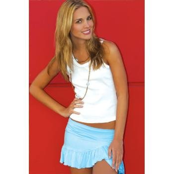 Wholesale Brushed Rayon Ruffled Tennis Skirt