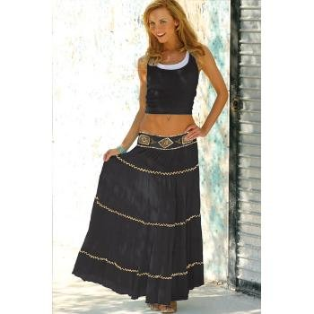 Wholesale Embellished Waist, Long Skirt