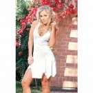 Wholesale Espiral Halter Clubwear with Frill Hem