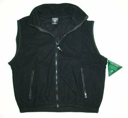 Wholesale Closeouts - Short Sleeve Black Fleece Vest
